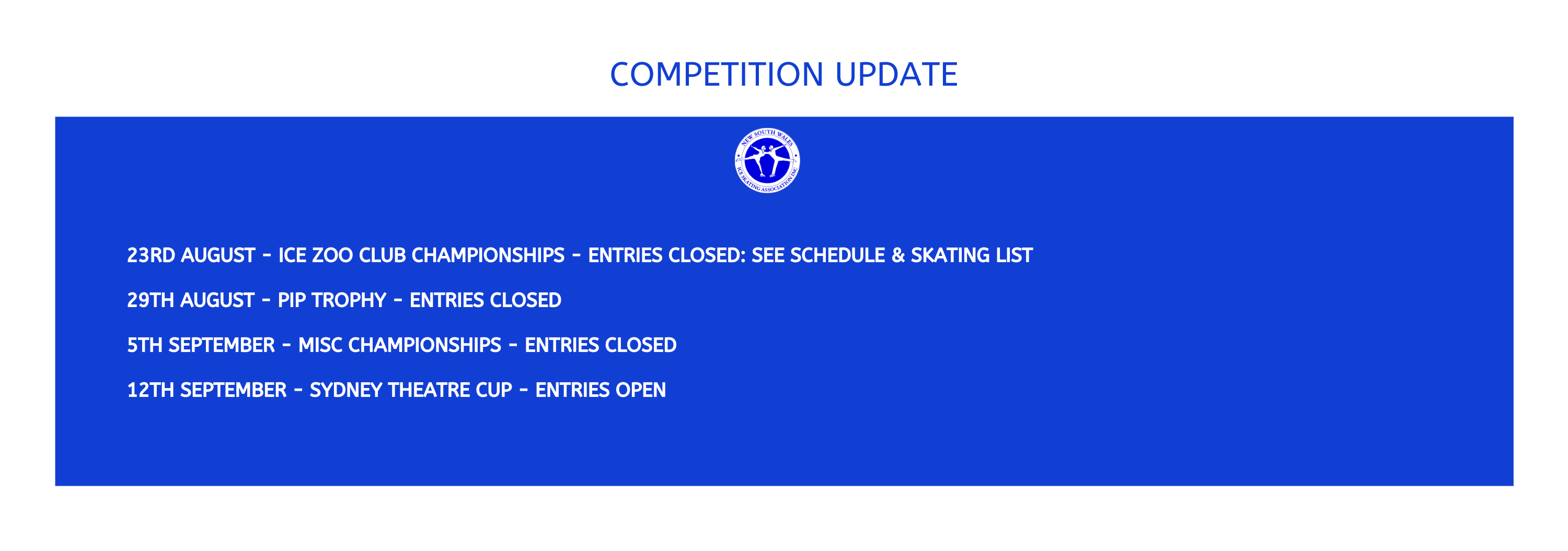 Competition updates