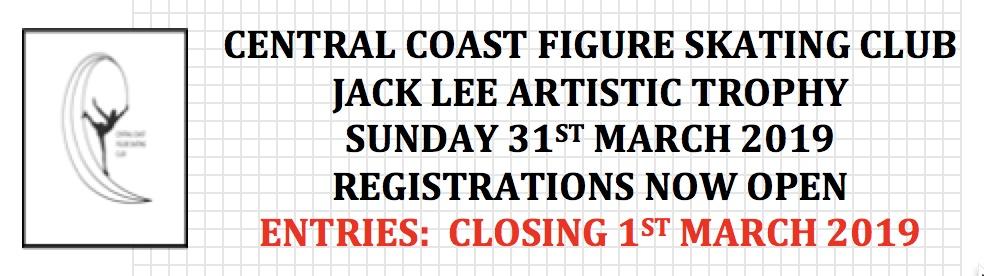 Jack Lee Artistic trophy 2019